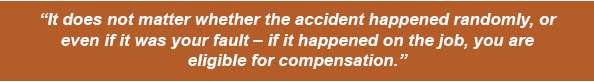 Quote about accident compensation