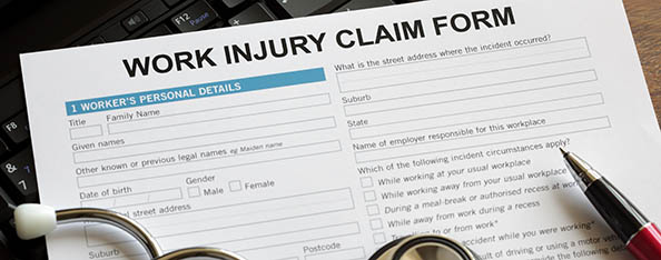 Work Injury Claim Form Image